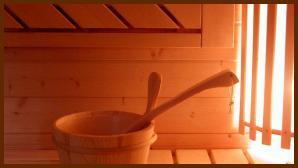 Visuel interieur d'un sauna