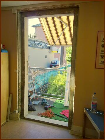 Dépose ancienne porte-fenêtre