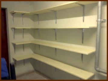 Aménagement d'étagères
